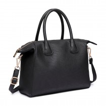 LT6646 - Miss Lulu Classic Shoulder Bag Black