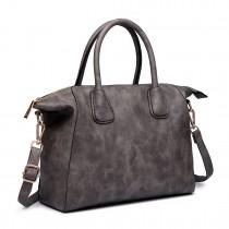 LT6646 - Miss Lulu Classic Shoulder Bag Grey