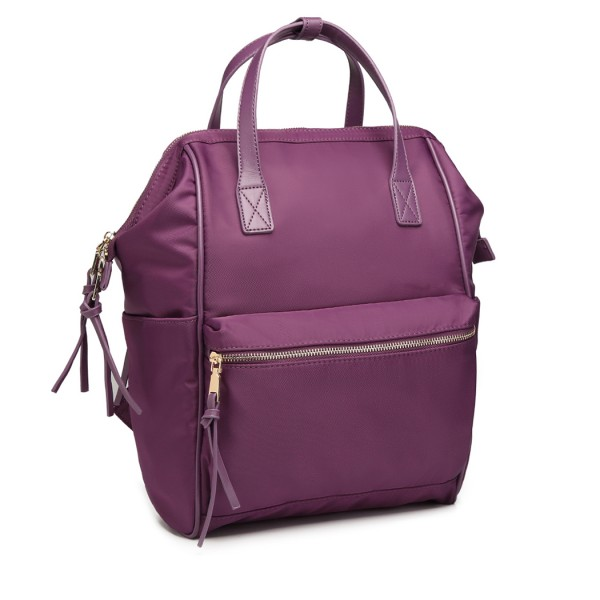 LT6840-MISS LULU PORTABLE WATERPROOF NYLON BACKPACK SCHOOL BAG PURPLE