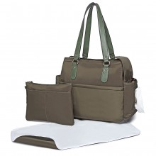 LT6852 - Miss Lulu 3 Piece Polyester Maternity Changing Bag - Green