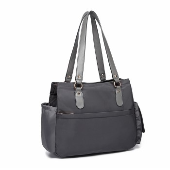 LT6852-MISS LULU POLYESTER 3 PCS SET MATERNITY CHANGING BAG SHOULDER BAG GREY