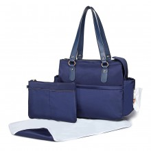 LT6852 - Miss Lulu 3 Piece Polyester Maternity Changing Bag - Navy