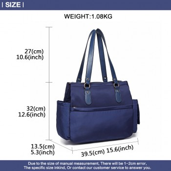 LT6852-MISS LULU POLYESTER 3 PCS SET MATERNITY CHANGING BAG SHOULDER BAG NAVY