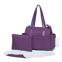 LT6852-MISS LULU POLYESTER 3 PCS MATERNITY SET BOLSA DE CAMBIO PURPLE