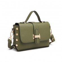 LT6858-MISS LULU MINI STAHCEL STYLE CROSS BODY GREEN
