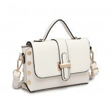 LT6858-MISS LULU MINI STAHCEL STYLE CROSS CORPS SAC BLANC
