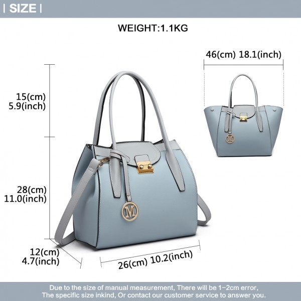 LT6875 - Miss Lulu Expandable Winged Shoulder Bag - Blue
