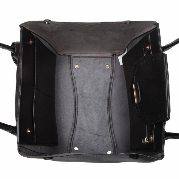 LT6875 - Miss Lulu Expandable Winged Shoulder Bag - Black