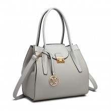 LT6875 - Miss Lulu Expandable Winged Shoulder Bag - Grey