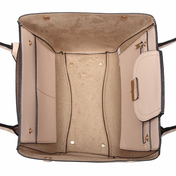 LT6875 - Miss Lulu Expandable Winged Shoulder Bag - Khaki