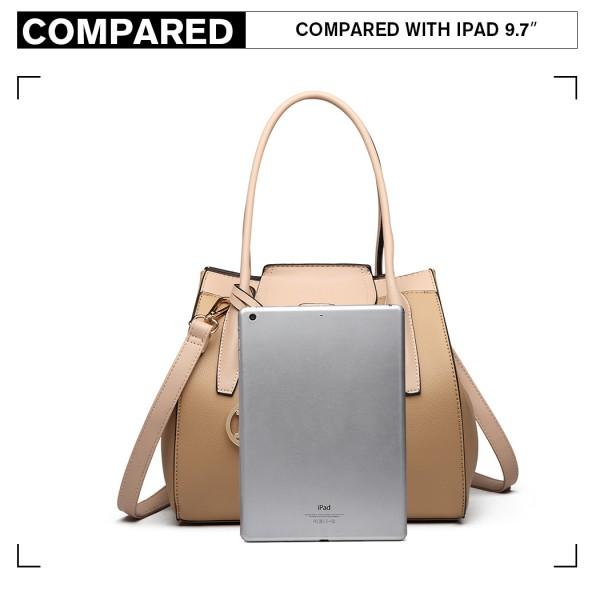 LT6875 - Miss Lulu Expandable Winged Shoulder Bag - Khaki