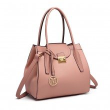 LT6875-MISS LULU EXTENSIBLE SAC À BANDOULARD ROSE