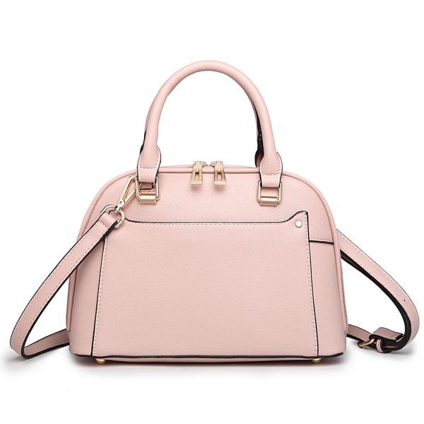 LT6922 - Miss Lulu Classic Bowler Handbag - Pink