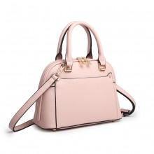 LT6922 - Miss Lulu Klassisch Bowler Handtasche - Rosa