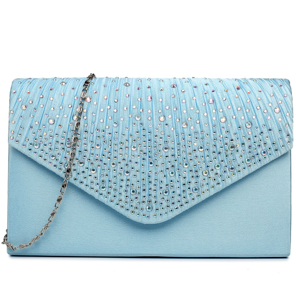 92f61d28b5537 Light Blue Clutch Handbag
