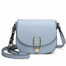 LZ1831 - MISS LULU CROSS BODY SADDLE BAG - BLUE
