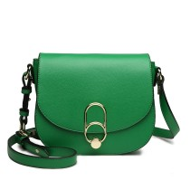 LZ1831 - MISS LULU CROSS BODY SADDLE BAG - GREEN