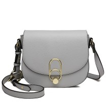 LZ1831 - MISS LULU CROSS BODY SADDLE BAG - GREY