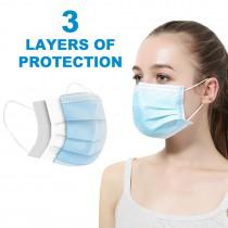 Máscaras médicas desechables de 3 capas Máscaras faciales anti-virus de la gripe - 10 piezas