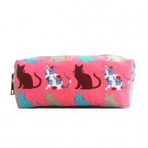 PC-CT - panna Lulu Canvas Pudełko z różowym kotem