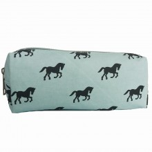 PC - Miss Lulu Canvas Pencil Case Horse Blue