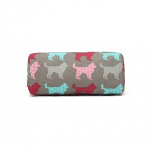 PC - Miss Lulu Canvas Pencil Case Dog Grey