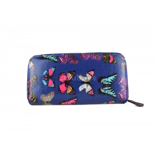 L1109B - Miss Lulu Oilcloth Purse Butterfly Navy