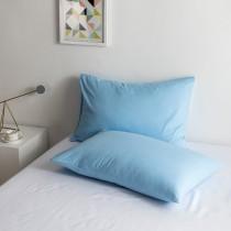 100% Algodon poli Lujo Suave Funda de almohada Conjunto - azul