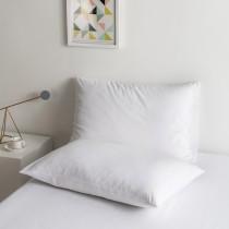 100% Algodon poli Lujo Suave Funda de almohada Conjunto - blanco