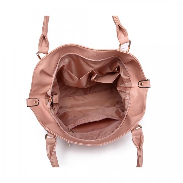 S1716 - Miss Lulu Doux Aspect cuir Sac à bandoulière Slouchy Hobo - Nu