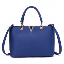 S1717 - Miss Lulu Shoulder Bag Navy