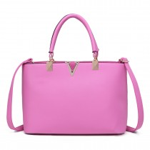 S1717 - Miss Lulu Shoulder Bag Pink