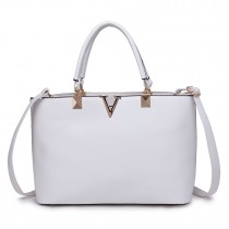 S1717 - Miss Lulu Shoulder Bag White