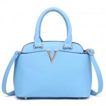 S1718 - Miss Lulu Bowler Bag Blue