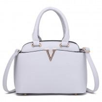 S1718 - Miss Lulu Bowler Bag Grey