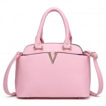 S1718 - Miss Lulu Bowler Bag Pink