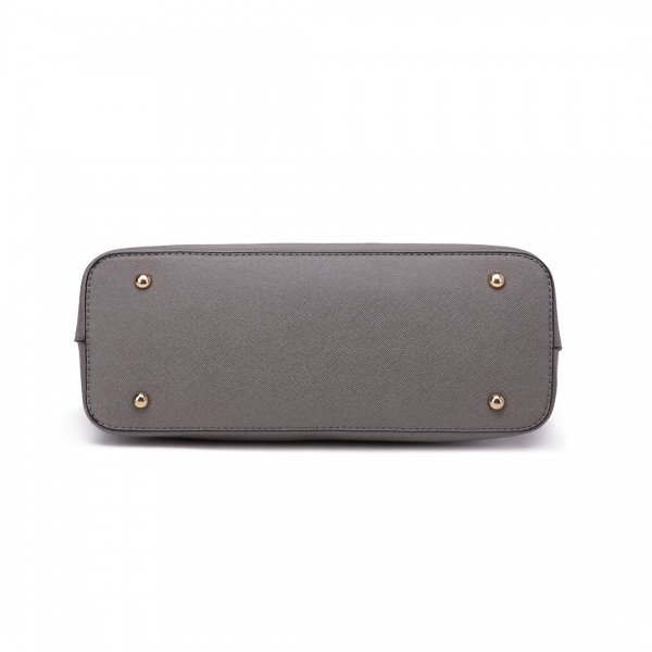 S1719 - Miss Lulu Pu Leather Handbag & Purse - Grey