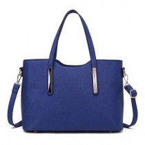 S1719 - Miss Lulu 2 Piece Tote Bag Navy