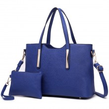 S1719 - Miss Lulu PU leather handbag & Purse Navy