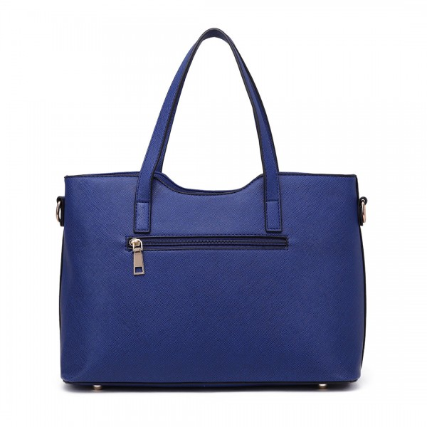 S1719 - Miss Lulu PU leather handbag & Purse Navy