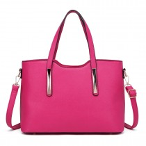 S1719 - Miss Lulu 2 Piece Tote Bag Pink
