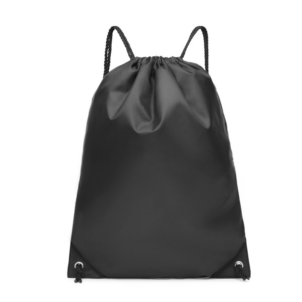 S2020 - Kono Polyester Drawstring Backpack - Black