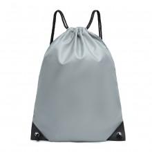 S2020 - Kono Polyester Drawstring Backpack - Grey