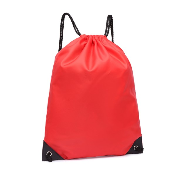 S2020 - Kono Polyester Drawstring Backpack - Red