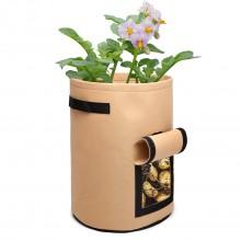S2037 - Kono 7 Gallon Garden Vegetable Grow Bag - Beige