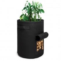S2037 - Kono 7 galones Bolsa de cultivo de hortalizas de jardín - negro