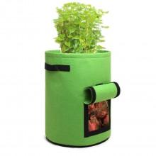 S2037 - Kono 7 Gallon Garden Vegetable Grow Bag - Green