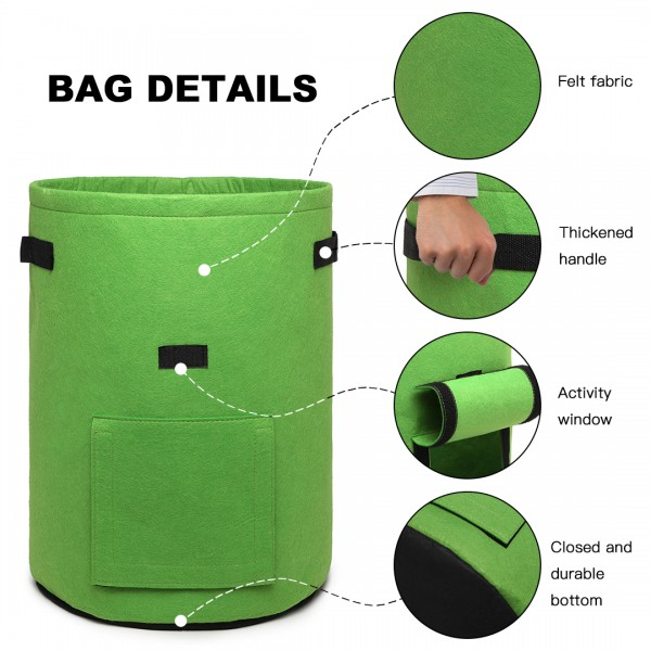 S2037 - Kono 7 Gallon Garden Vegetable Grow Bag - Green