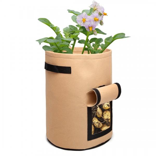 S2038 - Kono 10 Gallon Garden Vegetable Grow Bag - Beige