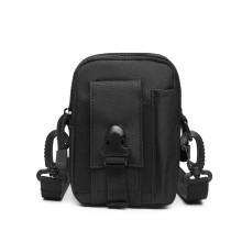 S2053 - Kono Casual Small Canvas Cross Body Bag - Black